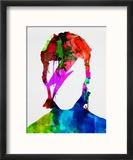 David Watercolor Portrait Reproduction encadrée par Lora Feldman