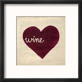 Wine in My Heart Reproduction encadrée par Morgan Yamada