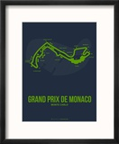 Monaco Grand Prix 2 Reproduction encadrée par NaxArt
