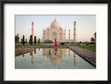 Reflection of a Mausoleum in Water  Taj Mahal  Agra  Uttar Pradesh  India