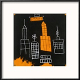 Mecca, 1982, Reproduction encadrée par Jean-Michel Basquiat