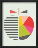 Geometric Apple Reproduction encadrée par Little Design Haus