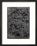 Paris Map Reproduction encadrée par GI ArtLab