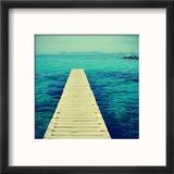Boardwalk in Ses Illetes Beach in Formentera, Balearic Islands Reproduction encadrée par Nito