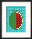 Watermelon Print Reproduction encadrée