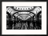 Moscow Metro, Russia Reproduction encadrée par Jonathan Irish