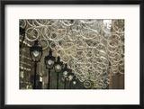 Bicycle Parts Turned into Hanging Art Reproduction encadrée par Michael Melford