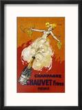 Poster for Chauvet Champagne Reproduction encadrée par J. J. Stall