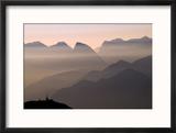 Alpine Sunset Reproduction encadrée par Lorenzo Rieg
