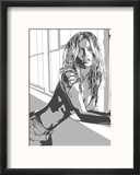 Kate Moss Reproduction encadrée par Emily Gray