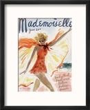 Mademoiselle Cover - June 1936 Reproduction encadrée par Helen Jameson Hall