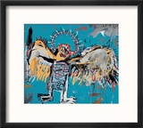 Untitled (Fallen Angel), 1981 Reproduction encadrée par Jean-Michel Basquiat