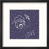 Card Love You to the Moon and Back Reproduction encadrée par Happiestsim