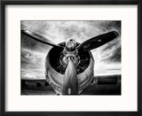 1945: Avion à hélice  Reproduction encadrée par Stephen Arens