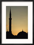 Minaret and Dome of the Blue Mosque at Dusk