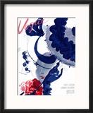 Vogue Cover - June 1935 - Paris Parasol Reproduction encadrée par Jean Pagès