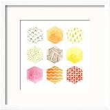 Honeycomb Patterns I Reproduction encadrée par June Vess