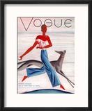 Vogue Cover - July 1930 Reproduction encadrée par Eduardo Garcia Benito