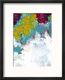Purple and Gold Floral Abstract Reproduction encadrée par Sarah Ogren