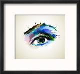 Beautiful Fashion Woman Eye Forming By Blots Reproduction encadrée par Artant