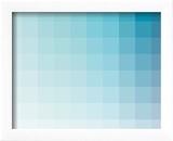Bleu Vert Aqua - Spectre chromatique, rectangles Reproduction encadrée par Rebecca Peragine