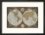 Carte du monde Reproduction encadrée par Elizabeth Medley