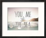 You Me + The Sea Reproduction encadrée par Rebecca Peragine