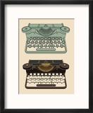 Vintage Typing Machine Reproduction encadrée par Davooda