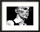 David Bowie - Thin White Duke Reproduction encadrée par Emily Gray