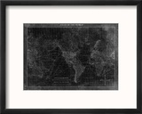 Atlas of the World Reproduction encadrée