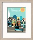 San Francisco California. Reproduction encadrée par Ladoga