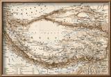 Map of Tibet  1870s
