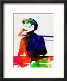 Stevie Watercolor Reproduction encadrée par Lora Feldman