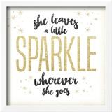 She leaves a sparkle 1