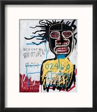 Self-Portrait as a Heel Reproduction encadrée par Jean-Michel Basquiat