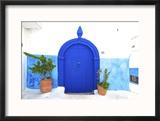 Traditional Moroccan Decorative Door, Rabat, Morocco, North Africa Reproduction encadrée