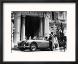 Aston Martin DB2-4 Outside the Hotel Carlton, Cannes, France, 1955 Reproduction encadrée