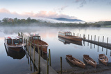 Boats Moored on Derwentwater Near Friar's Crag  Keswick  Lake District  Cumbria  England