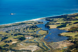 Kaikorai Lagoon and Waldronville  Dunedin  Otago  South Island  New Zealand - Aerial