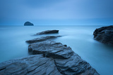 Atmospheric Trebarwith Strand on a Moody Evening  North Cornwall  England Summer (June) 2013