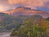 Autumnnal Foliage on Derwent Water  with Mountains Beyond