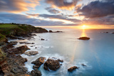 A Winter Sunrise over Polpeor Cove  the Lizard Cornwall
