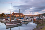 Boats Moored in Porlock Weir Harbour  Exmoor  Somerset  England Summer (July) 2014