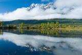 Niut Mountains Reflected in a Pond in Front of Tatlayoko Lake  British Columbia
