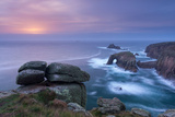 Sunset over the Atlantic Near Land's End  Cornwall  England Autumn (October) 2013