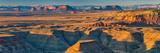 Goosenecks of San Juan River  Monument Valley Buttes in Distance