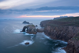Sunset over the Dramatic Cliffs of Land's End  Cornwall  England Autumn (September) 2014