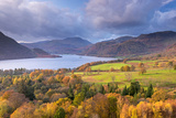 Ullswater from Gowbarrow Fell  Lake District  Cumbria  England Autumn (November) 2014