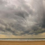 Storm Clouds over Ross Sands  Northumberland  England