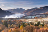 Ullswater from Gowbarrow Fell on a Frosty Autumn Morning  Lake District  Cumbria  England